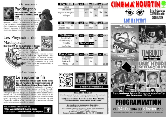 Programmation du Cinema Hourtin Lou Hapchot 10854210