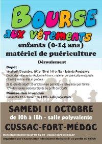 Bourse aux Vêtements le 11 Octobre 2014 à Cussac Fort Médoc 6796f510