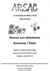 Bourse aux vêtements automne/hiver du 17 au 19 Octobre 2014 à Arsac 9c345d10