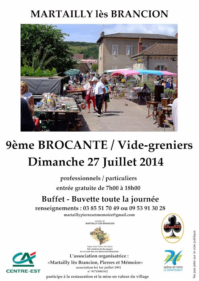 27 Juillet 2014 - 9ème Brocante Affich10
