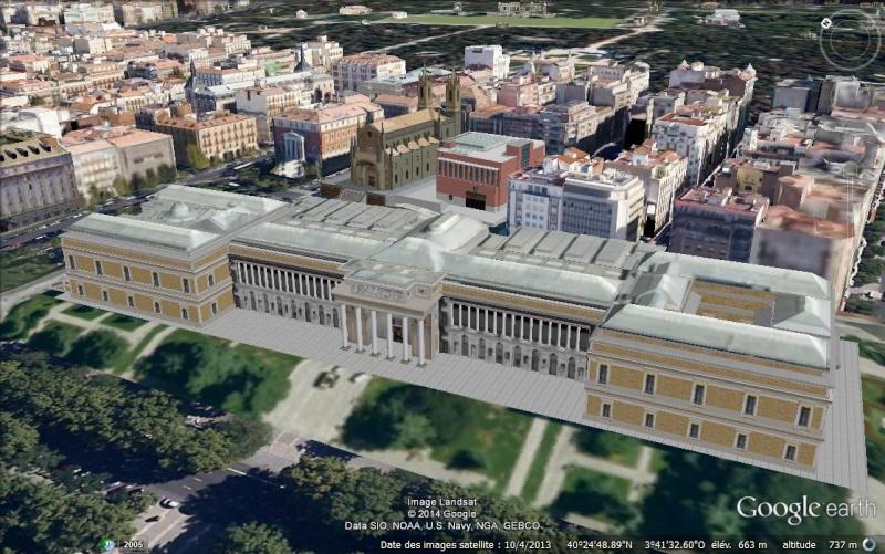 Le musée du Prado en 3D et en haute définition dans Google Earth Aa34