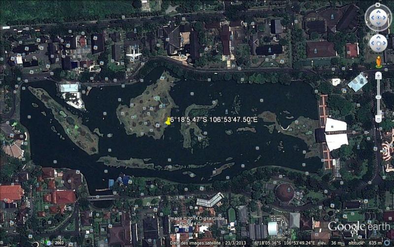 Iles indonésiennes miniatures à Jakarta, Indonésie Aa60