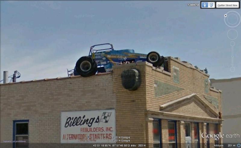 Voiture sur un toit - Milwaukee - Wisconsin - USA Cc10