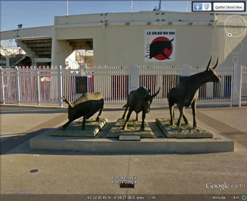 Sculpture : les taureaux du Grau du Roi, Gard - France Fff14