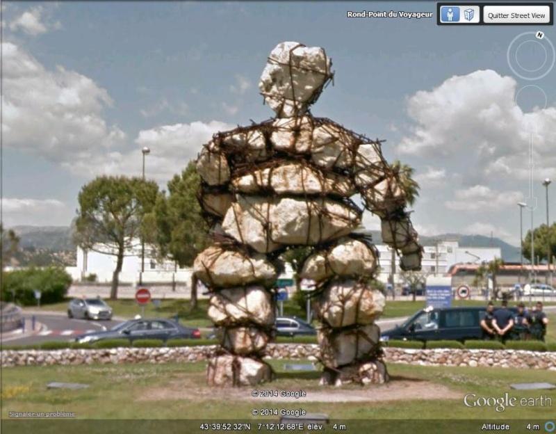 """Sculpture """"le voyageur"""" - Nice - Alpes Maritimes - France Sv_le_10"""