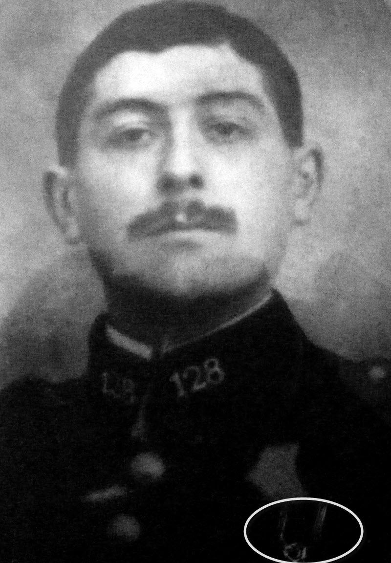 Un soldat de la grande guerre: portrait retouché. Victor12