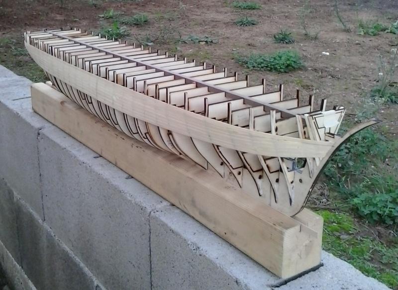 costruzione - costruzione di goletta, liberamente ispirata a piroscafo cannoniera del XIX secolo 20141012