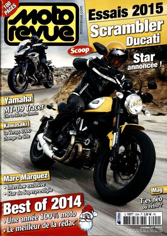 Marquez et la Scrambler Ducat est dans moto revue. Motore10