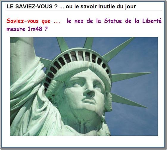 Le nez de la Statue de la Liberté F310