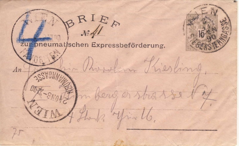 Rohrpoststempel WIEN - FAVORITEN Ru08_110