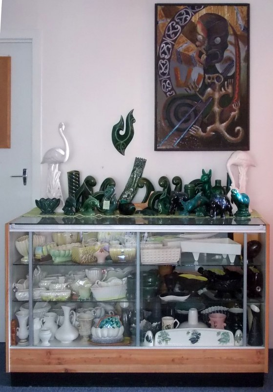 My green NZ Pottery collection and some more Titian. Dscn4525