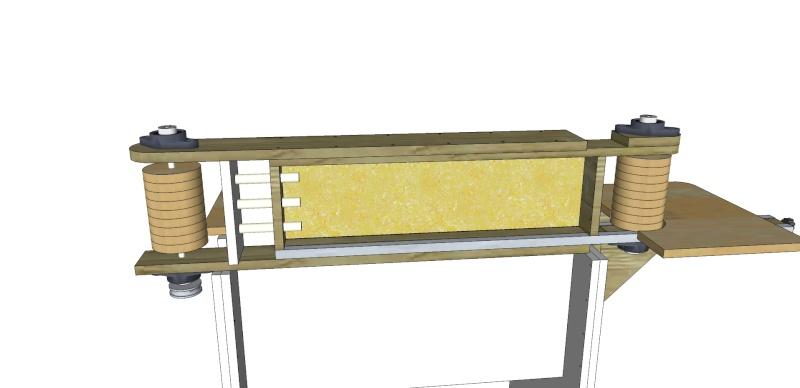 fabrication d 39 une ponceuse bande stationnaire. Black Bedroom Furniture Sets. Home Design Ideas