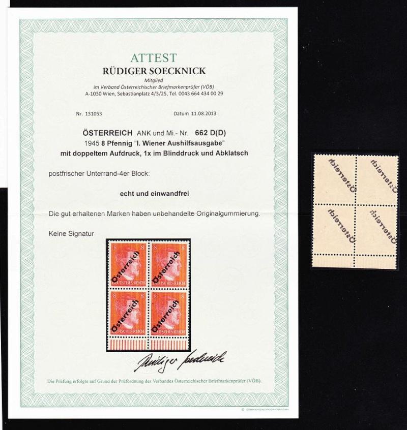 Briefmarken - I. Wiener Aushilfsausgabe, erste Ausgabe Unbena14
