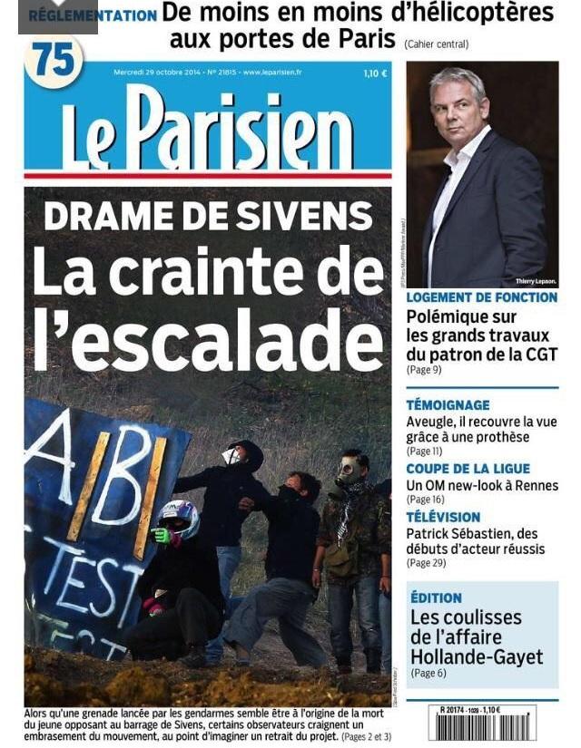 Frankenstein ne maîtrise plus sa créature : mort à Sivens, panique à Nantes Sivens10