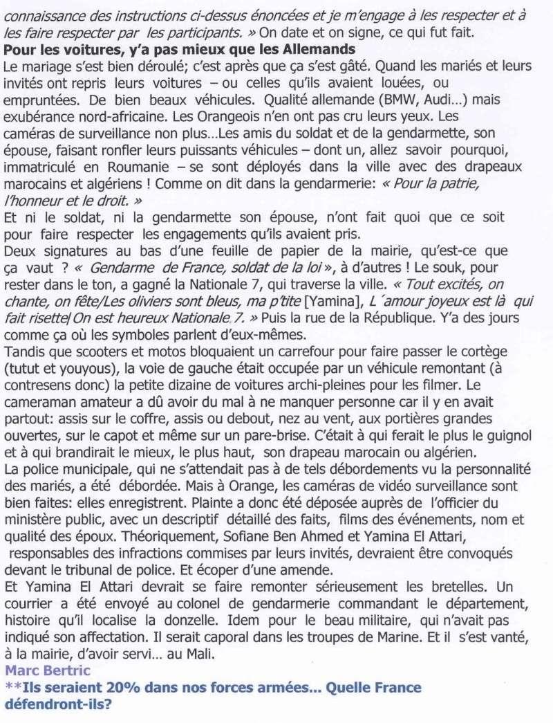 Revue de presse du 8 juillet 2013:Le mariage qui fait honte à la FRANCE Lettre11