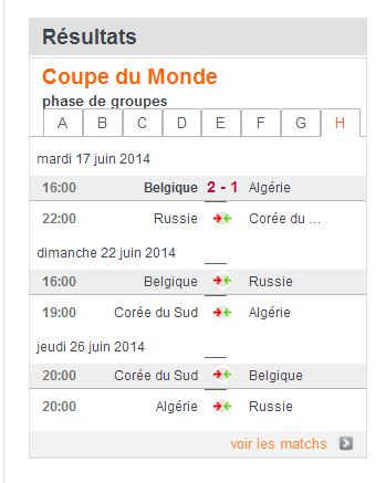 COUPE DU MONDE FOOTBALL 2014 Be10
