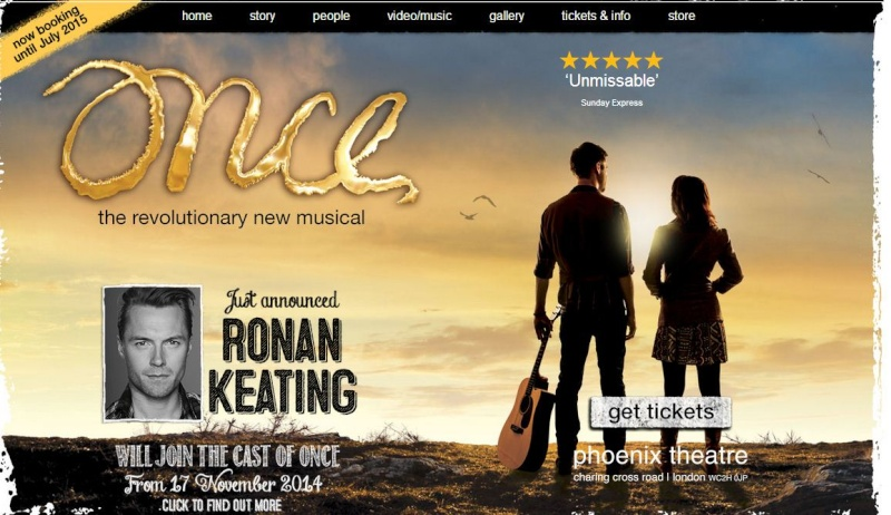 """""""ONCE MUSICAL"""" - WEST END   Op10"""