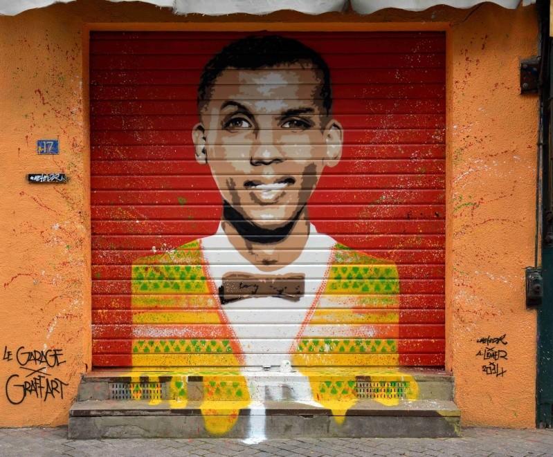 Graffart, présente STROMAE aux Puces rue Paul Bert ! ST OUEN (2014) Graffa10