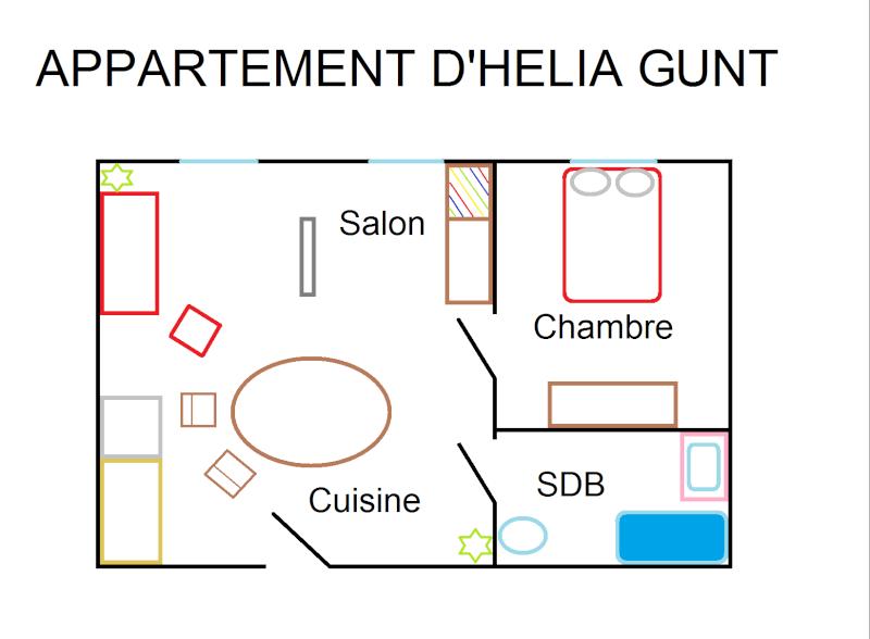 Plan des habitations Appart11