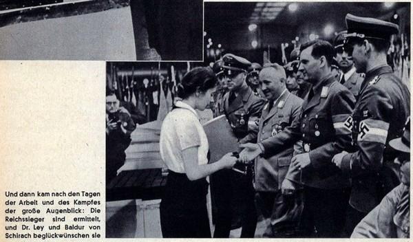 """""""Kreisseiger Abzeichen im Reichsberufswettkampf"""" (1934/1945) Bdm71110"""