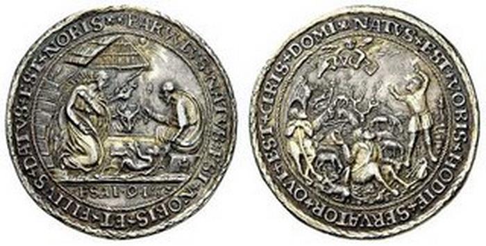 ICONOGRAFIA de la NATIVIDAD en las medallas devocionales 153310