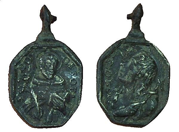 Recopilación medallas de Santo Domingo de Guzmán. Notas iconográficas. 17_16x10