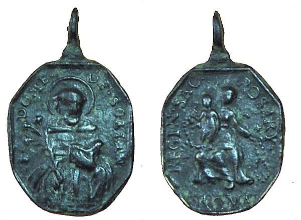 Recopilación medallas de Santo Domingo de Guzmán. Notas iconográficas. 17_20x11