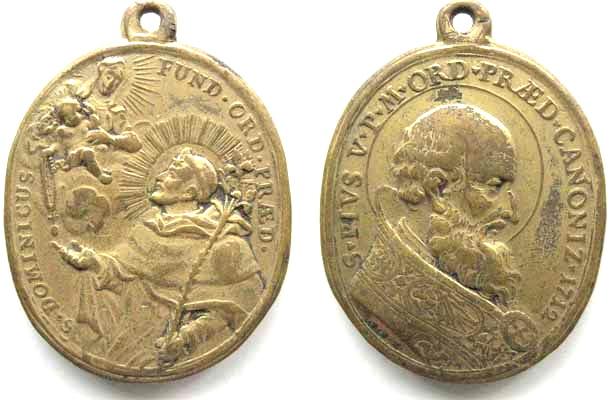 Recopilación medallas de Santo Domingo de Guzmán. Notas iconográficas. 6344a110