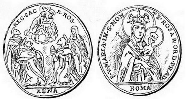 Recopilación medallas de Santo Domingo de Guzmán. Notas iconográficas. 669111