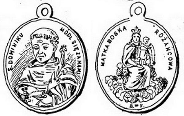 Recopilación medallas de Santo Domingo de Guzmán. Notas iconográficas. 84311