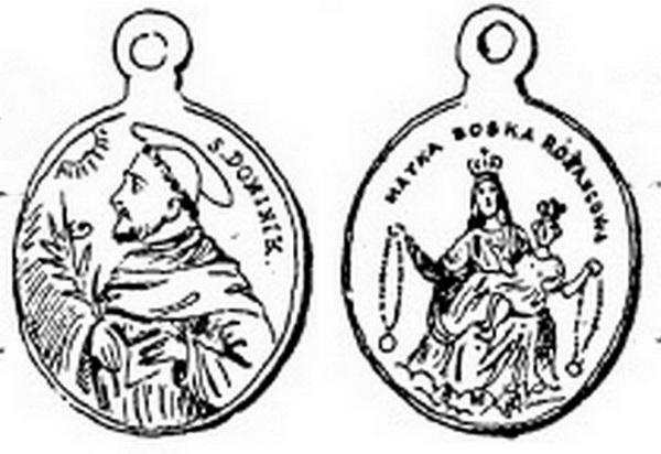 Recopilación medallas de Santo Domingo de Guzmán. Notas iconográficas. 84511