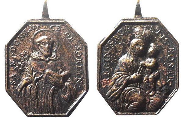 Recopilación medallas de Santo Domingo de Guzmán. Notas iconográficas. _salzb10