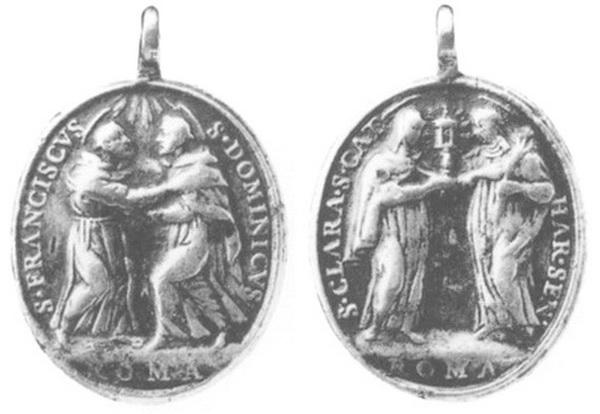 Recopilación medallas de Santo Domingo de Guzmán. Notas iconográficas. Abrazo10