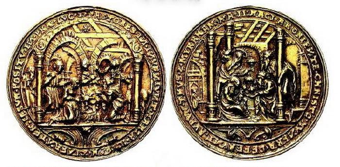 ICONOGRAFIA de la NATIVIDAD en las medallas devocionales Adorac10