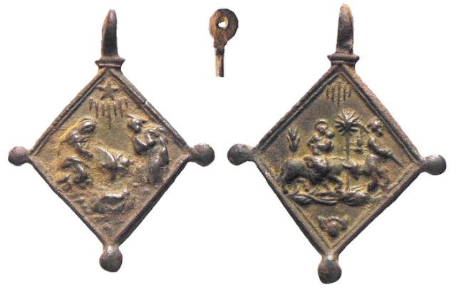 ICONOGRAFIA de la NATIVIDAD en las medallas devocionales Avelin11