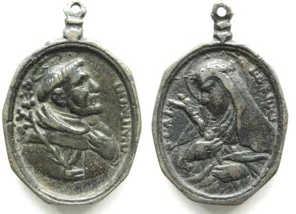Recopilación medallas de Santo Domingo de Guzmán. Notas iconográficas. Bbr_6611