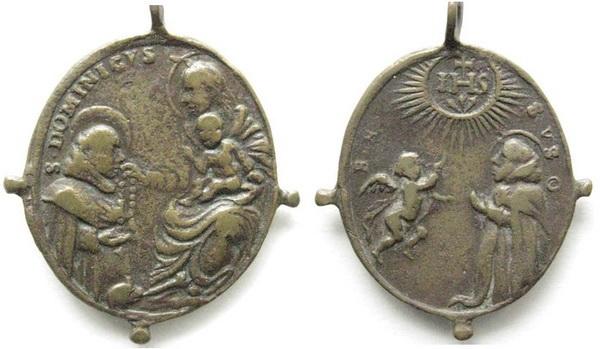 Recopilación medallas de Santo Domingo de Guzmán. Notas iconográficas. Bnbel610