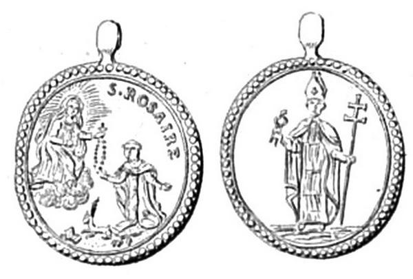 Recopilación medallas de Santo Domingo de Guzmán. Notas iconográficas. Clip2110