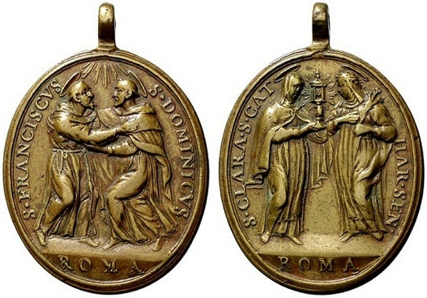 Recopilación medallas de Santo Domingo de Guzmán. Notas iconográficas. Coinar10