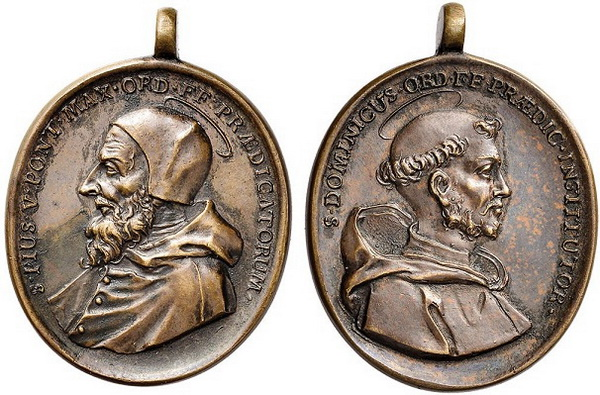 Recopilación medallas de Santo Domingo de Guzmán. Notas iconográficas. Coinar11