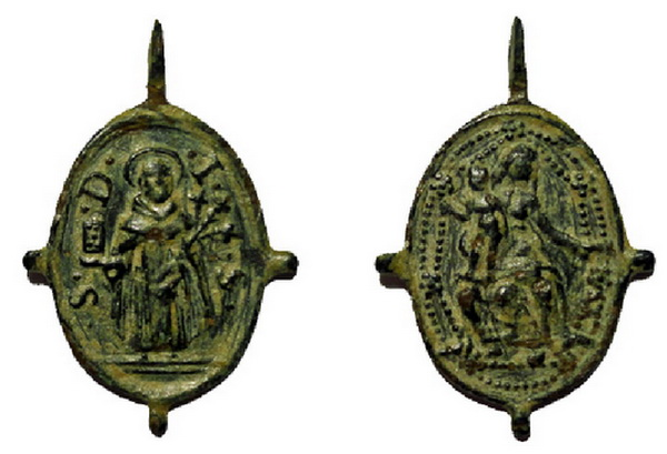 Recopilación medallas de Santo Domingo de Guzmán. Notas iconográficas. Conuba11