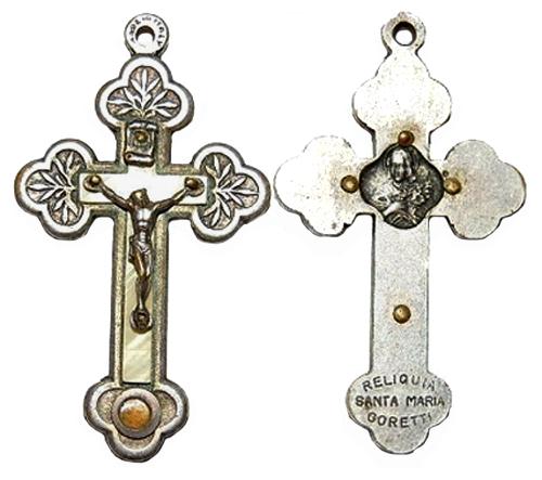 Cruz con reliquia de Santa María Goretti S-XX * Crucif11