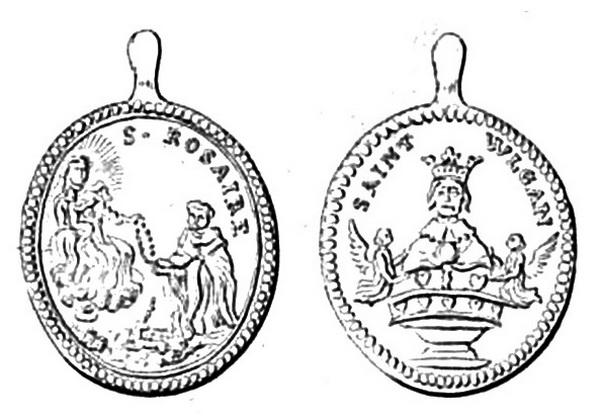 Recopilación medallas de Santo Domingo de Guzmán. Notas iconográficas. Danaoi10