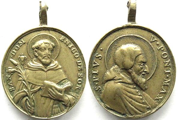 Recopilación medallas de Santo Domingo de Guzmán. Notas iconográficas. Diam2510