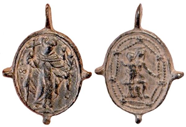 Recopilación medallas de Santo Domingo de Guzmán. Notas iconográficas. Dom02_10