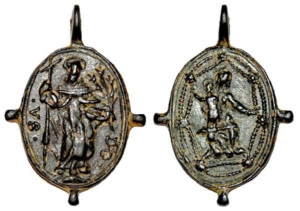 Recopilación medallas de Santo Domingo de Guzmán. Notas iconográficas. Dom03_10