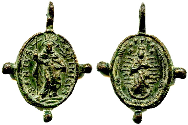 Recopilación medallas de Santo Domingo de Guzmán. Notas iconográficas. Dom04_10
