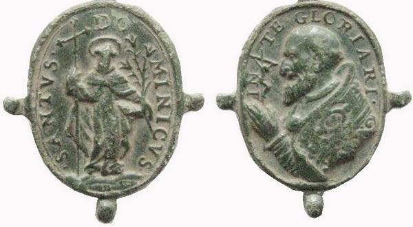 Recopilación medallas de Santo Domingo de Guzmán. Notas iconográficas. Dom05_10