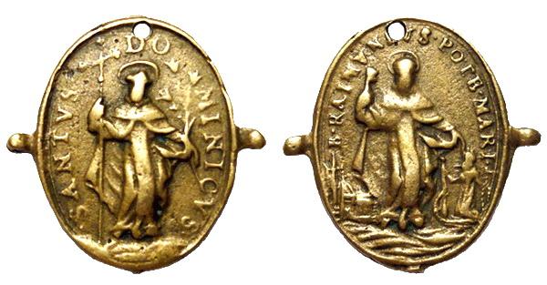 Recopilación medallas de Santo Domingo de Guzmán. Notas iconográficas. Dom06_10