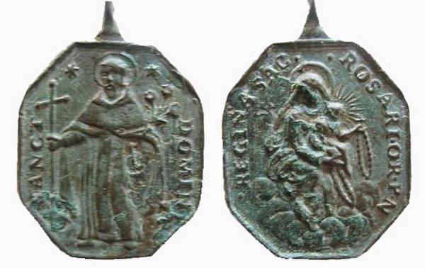 Recopilación medallas de Santo Domingo de Guzmán. Notas iconográficas. Dom10_10